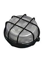 Ship lamp circular with grid black